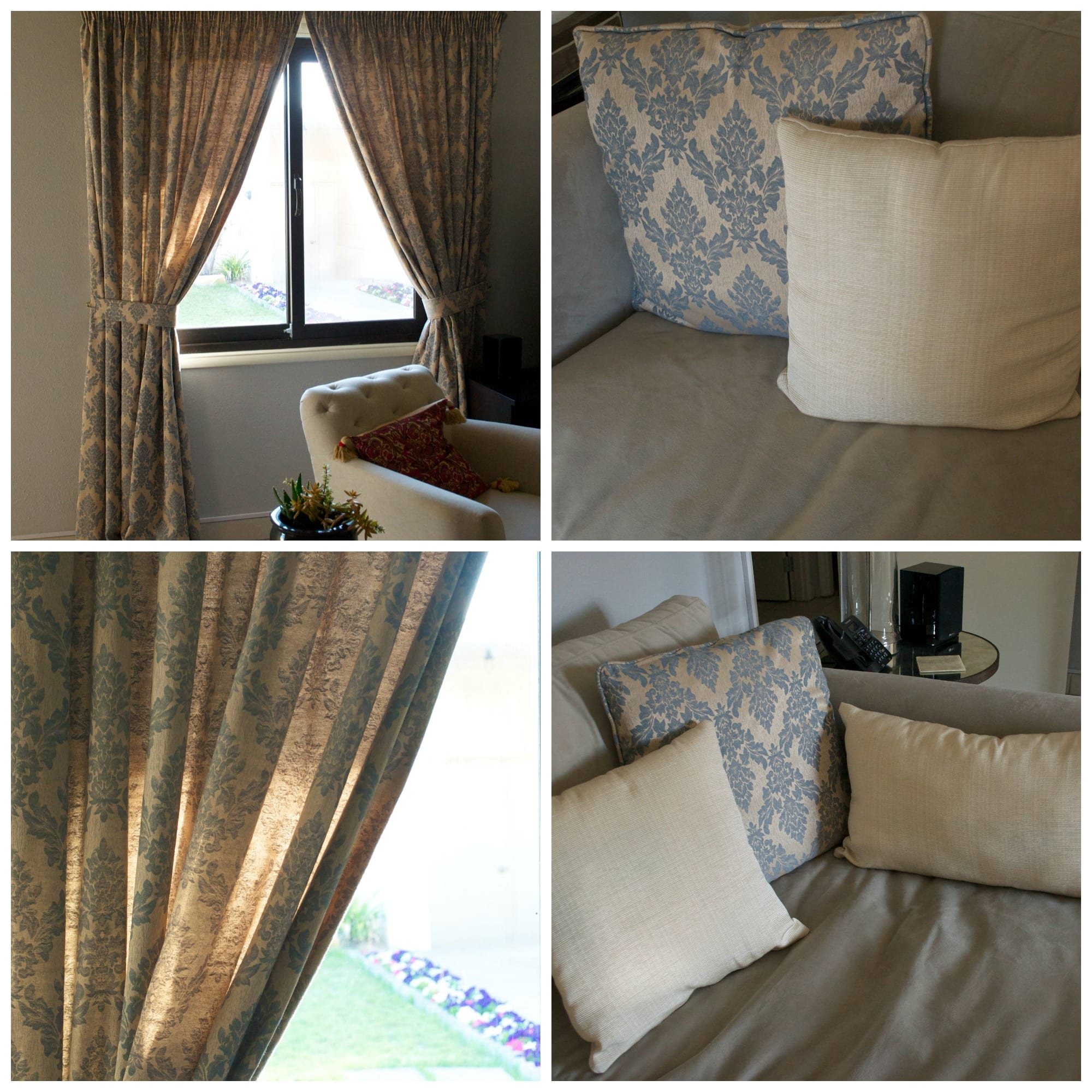 Curtain and pillow Collage